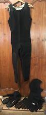 Vtg Rip Curl Wet Surfing Suit Xl Original 1965/66 Rare + Gloves & O'Neill Boots