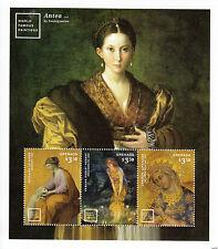Grenada 2014 MNH World Famous Paintings 3v M/S I Art Antea Parmigianino Le Sueur