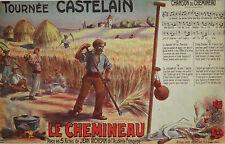 """""""LE CHEMINEAU de Jean RICHEPIN"""" Affiche originale entoilée Louis GALICE 1908"""
