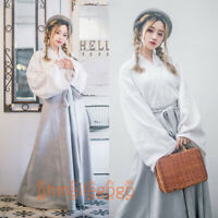 2 Pcs Set Women's Dress Tops Skirt Suit Hanfu Ancient Costume Chinese Cosplay