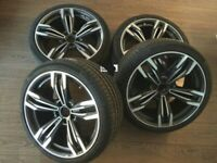 20 inch wheels for BMW F01 F07 F10 F11 433 style + summer tyres 245/40 + 275/35