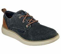 Navy Skechers Wide Fit shoes Men Memory Foam Casual Vintage Canvas Comfort 65910