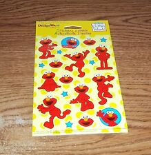 Elmo's World stickers with blue stars. 38 stickers on two sheeets.