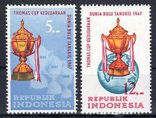 Indonesia - 1967 Thomas Cup / Badminton - Mi. 581-82 MNH