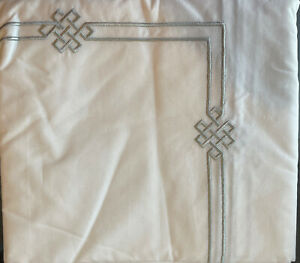 Pottery Barn Emilia Embroidered Shower Curtain - 72x72 - Gray - NEW