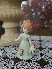 Vintage Figurine 1982 Enesco Growing Up Birthday Girls age 3