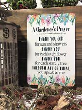 Gardener's Prayer Sign - Garden Sign - Gardening Quote - Home Decor-  Metal Sign