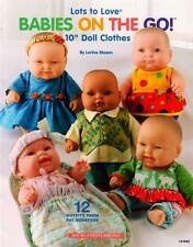 """Babies On The Go  10"""" Doll Clothes Sewing  Pattern Book   12 Adorable Outfits"""