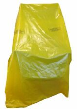 More details for 1 large strong plastic armchair chair cover 600 gauge yellow polythene protector