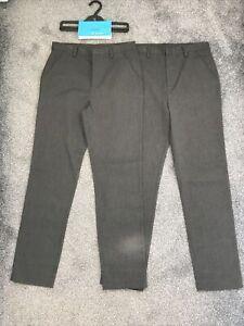 Debenhams Boys School Trousers. Grey, Age 15. 2x Pairs. Like Marks, BNWT