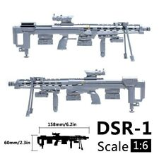 1/6 Scale 12 inch Action Figure DSR-1 Sniper Rifle Military Model Gun Weapon Toy