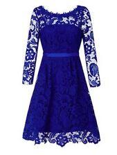 "BNWT "" MONSOON "" Size 8 Blue Lolita Lace  Prom Cocktail Dress Small (36 EU) New"