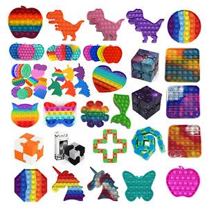Push Pop It Bubble Kids Toy Special Needs Silent Sensory Fidget Autism Classroom