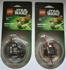 LEGO Star Wars ** DARTH VADER & DARTH MAUL ** magnet set -  free shipping - NEW!