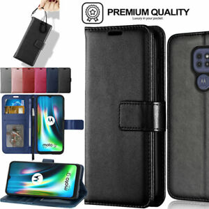 For Motorola Moto G9 Play / Plus / Power  Flip Leather Wallet Stand Case Cover