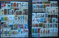 ISRAEL STAMPS MINT UNHINGED WITH TABS - 100 STAMPS ALL DIFFERENT- 30 COMPL. SETS
