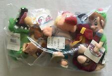 """Disney PETER PAN Mini Bean Bag Set NEW 8"""""""