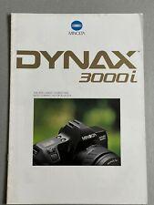 Minolta Dynax 3000i, 35mm Film Camera, A4 Paper Brochure, 18 Pages