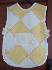 New Waterproof Children's Tabbard yellow & beige harlequin design Side tabs