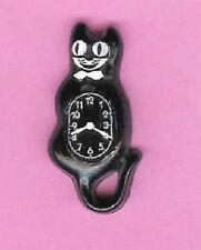 DOLLHOUSE MINIATURES BLACK CAT CLOCK