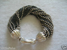 TIFFANY & CO. Sterling Silver 925 Torsade Fine & Ball Chains Bracelet RARE!
