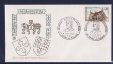 q/ enveloppe jumelage Bourg en Bresse  Bad Kreuznach  1969  vert