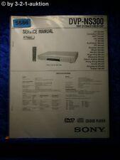 Sony Service Manual DVP NS300 CD/DVD Player (#5586)