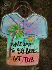PERSONALIZED TROPICAL TIKI  SHIRT HOT TUB POOL PATIO BEACH  HAWAIIAN SIGN PLAQUE