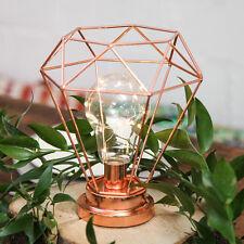 15 Batería de interior LED Boda Terrario alambre de oro rosa 22CM Linterna Lámpara Luz