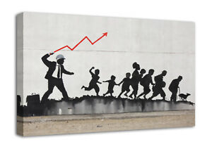 Banksy Stock Work Canvas Wall Art Picture A4 A3 A2 A1 Print Ready To Hang