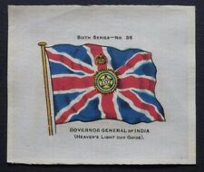 SCARCE John Sinclair Silk GOVERNOR GENERAL INDIA issued 1914 FLAGS Sixth Series