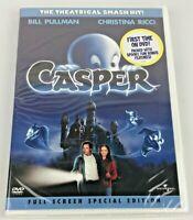 Casper (DVD, 2003, Full Frame) New Sealed - Lightly Damaged Case