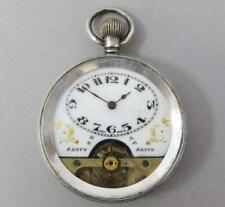 FINE ANTIQUE STERLING .925 SILVER HEBDOMAS VISIBLE ESCAPEMENT POCKET WATCH 1900