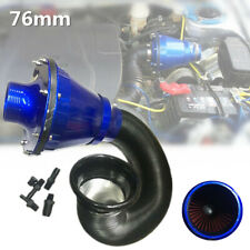 76mm Air Filter Power Intake Bellows Car High Flow Cold Air Inlet Cleaner Set