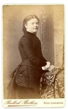 Lady on cdv by Bullock Bros of The Parade in Leamington Spa