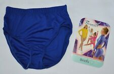 NEW Pizzazz Girl's Large 12-14 Royal Blue Cheer Dance Brief Trunk Underpants
