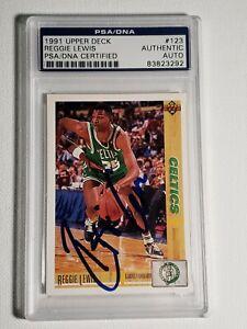 1991-1992 Upper Deck Reggie Lewis PSA Autograph Card Celtics Auto Card Signed