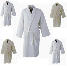 Gown Supreme Waffle Bath Robe Ladies Men Hotel or 100% Cotton Dressing Gown