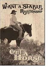 Western Reiter Vintage Style Cowboy USA Magnet Schild