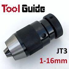 1-16mm (Mount Jt3) Keyless Precision Drill Chuck, CNC Lathe Milling Self Tighten