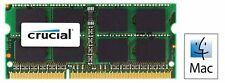 DDR3 MAC 4GB 1066MHZ PC3-8500 Crucial Sodimm CT4G3S1067MCEU  Memoria Ram***