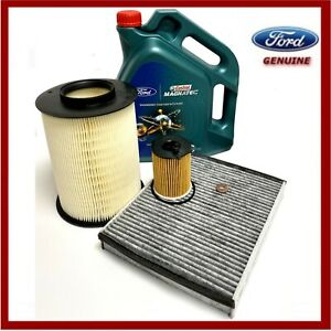 Genuine Ford Focus Mk3 1.6 TDCi Service Kit Oil Air Cabin Filter & Oil