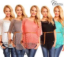 Damenblusen, - tops & -shirts im Tuniken-Stil mit U-Ausschnitt aus Viskose