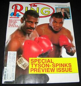 BOXING MIKE TYSON 1988 MICHAEL SPINKS COVER FEATURE RING MAGAZINE
