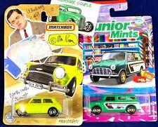 Matchbox - Lot of 2 - Mini COOPER - Mr. BEAN & Austin Mini Van Junior Mints G62