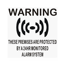 6 x PREMISES Protected Alarm System-Internal Stickers-Business,Home,Security