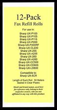 12-pack of UX-5CR Fax Refills for Sharp UX-255 UX-A255 UX-260 UX-A260 UX-CL220