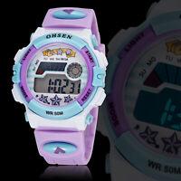 OHSEN Kids Fashion Sports Watch Waterproof Digital Alarm Watches Boys Girls Gift