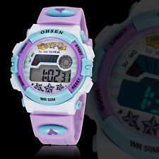 Reloj Deportivo OHSEN Niños Moda Relojes Despertador Digital Impermeable Niños Niñas Regalo