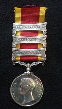 Original British 2nd China War Medal, 1857- 1858, 3 Bars, Taku Forts 1858